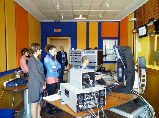 In visita agli studi RAI Emilia-Romagna